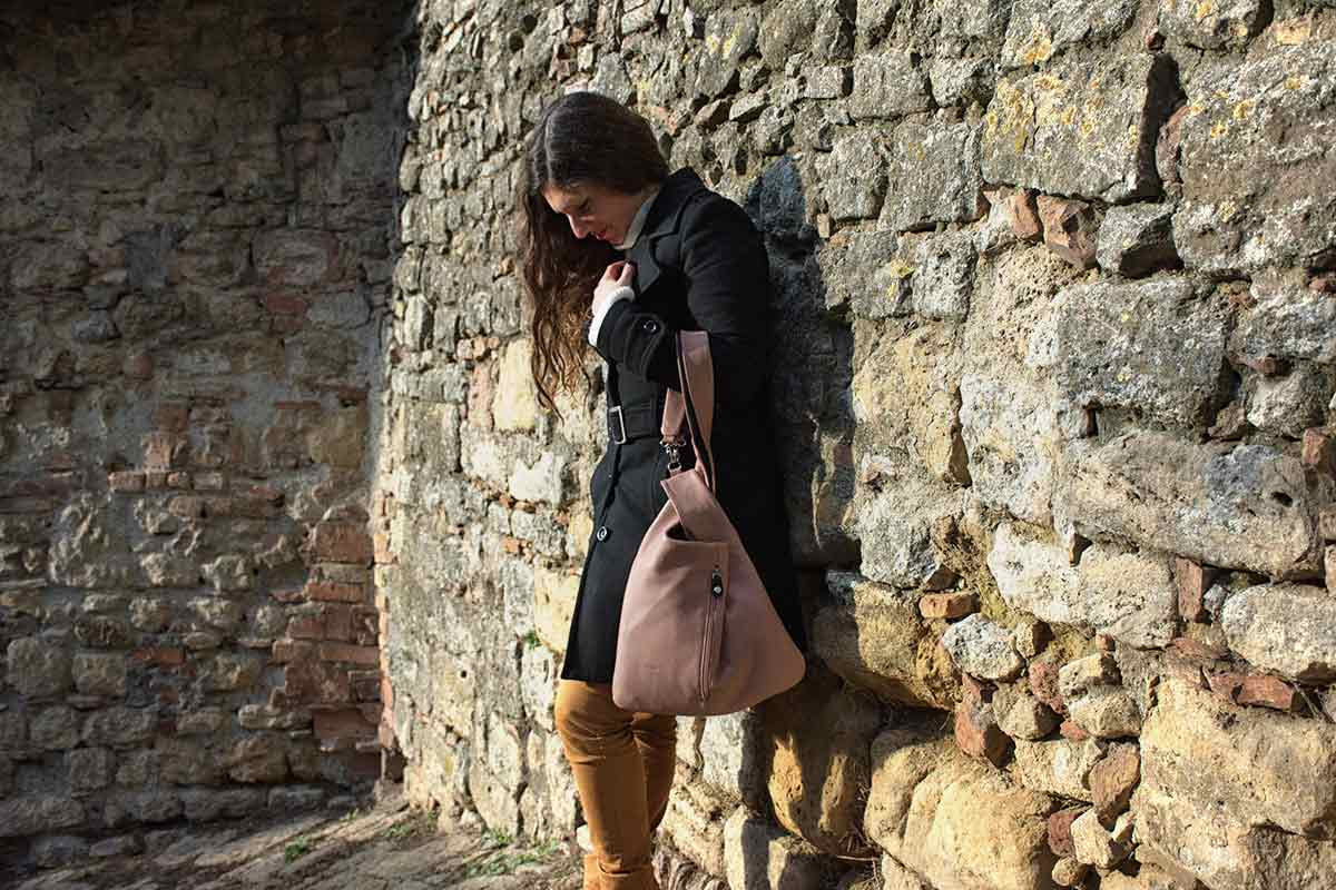 Borsa Millemodi rosa antico - Volterra