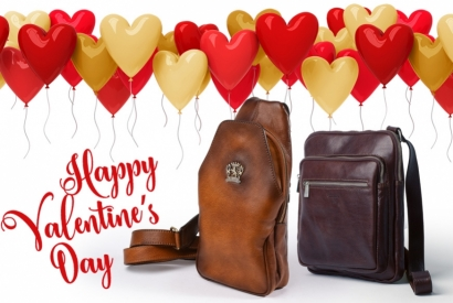 Give your boyfriend a genuine leather bag for Valentine's Day